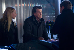 FRINGE: Olivia (Anna Torv, L), Walter (John Noble, C) and Peter (Joshua Jackson, R) investigate a death at Massive Dynamic headquarters in the FRINGE episode The Dreamscape