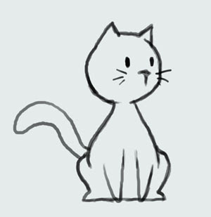 Cute Easy Cartoon Cat Drawings
