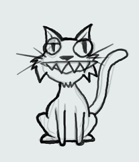 Learn How To Draw Cartoon Funky Kitty Cat Step By Step Video