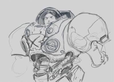 how to draw starcraft marine