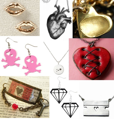 Hearts are always popular valentine's jewelry and a heart shaped
