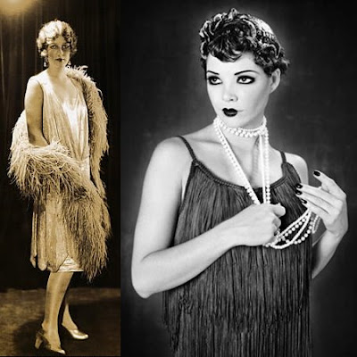 Cocktail dress 1920s style makeup