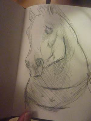 sketch of horses of st marks by ophelia keys