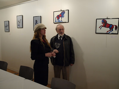 ophelia and david keys at exhibition opening