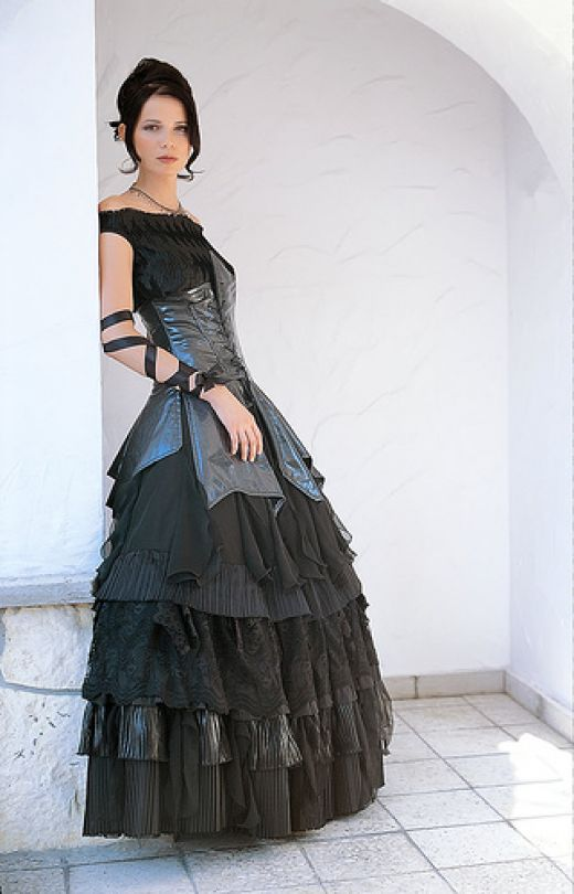 nujazzspirit gothic wedding theme with dress and outfits