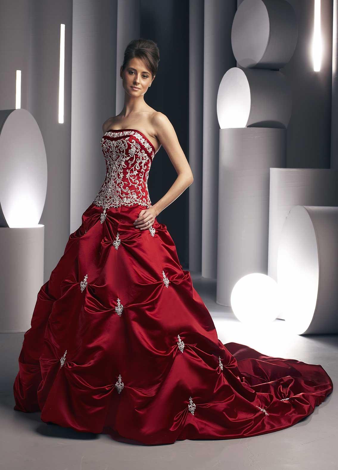 red wedding dress designers