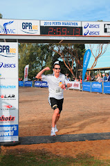 Perth 2010 Marathon finish