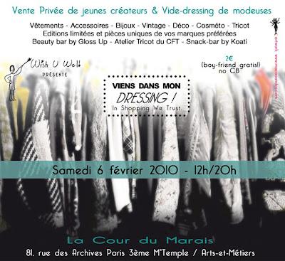 >Vente privée de Jeunes Créateurs & Vide-dressing de Modeuses