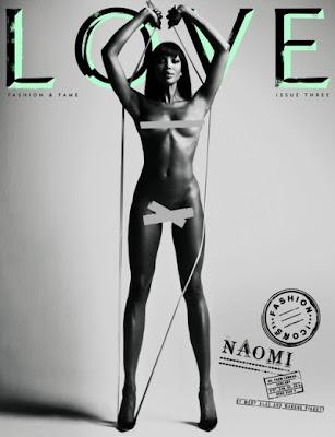 >Naomi Campbell en couv' de LOVE mag