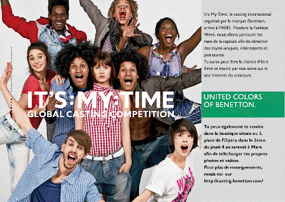 ">""Benetton It's My Time"" – Casting à Paris Opéra"