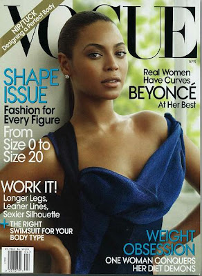 Beyonce en couveture de Vogue
