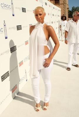 amber1 Diddy & Ashton Kutcher's All White Affair
