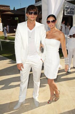 Ashton+demi Diddy & Ashton Kutcher's All White Affair