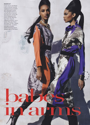 "Jourdan & Chanel: ""Babes In Arms"" – Vogue US"