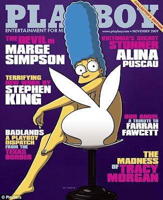 Marge Simpson en couv' de Playboy