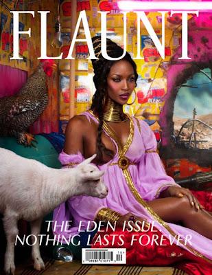 Naomi Campbell en couv' de Flaunt
