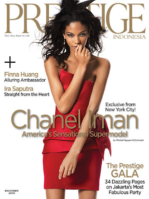 Chanel Iman en couv' de Prestige Indonesia