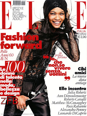 >Chanel Iman en couv' d'Elle Italia