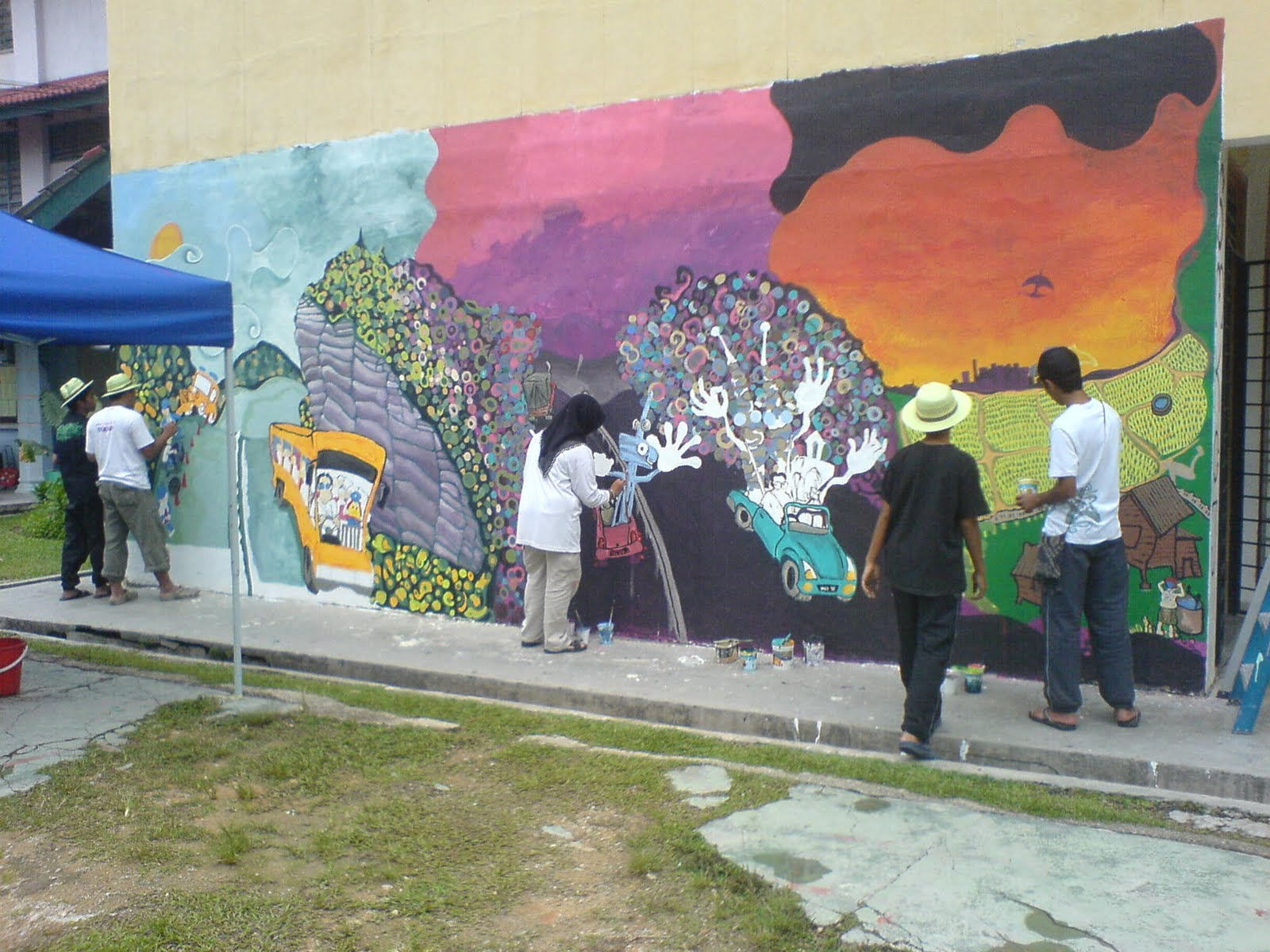 Mural mospira for Mural tadika