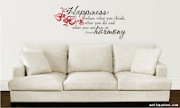 Wallquotes.com happiness wall quote