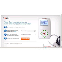 numi key website for adding card numbers