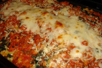 Malisa's Food Blog: Lasagna Style Baked Ziti with Pesto and Marinara