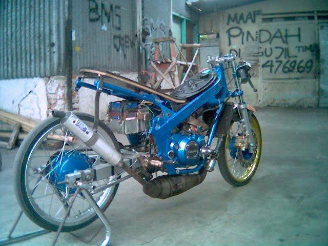 Blue Drag Part Model Motor