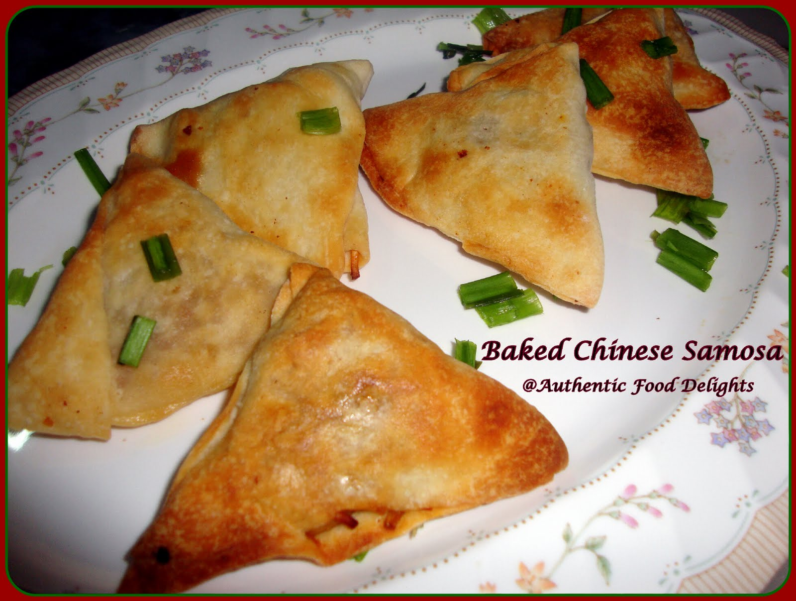Authentic Food Delights: Baked Chinese Samosa