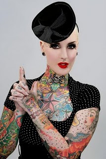 tribal colour tattoos body girls