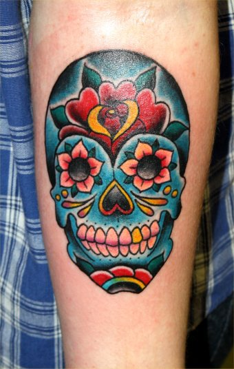 Born for hard luck june 2010 for Candy skull tattoo