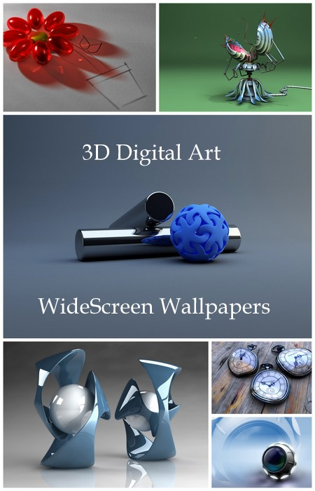 3D Digital Art WideScreen Wallpapers