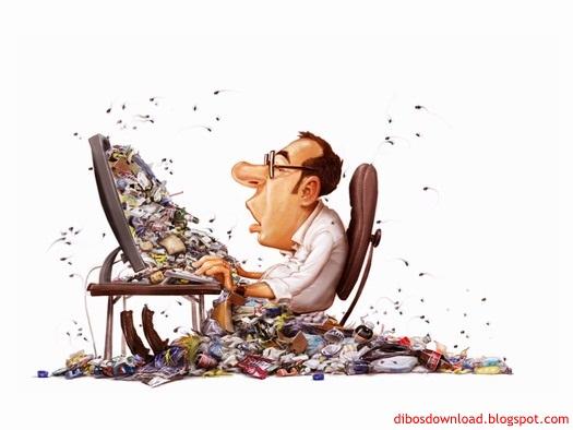 caricature computer dump