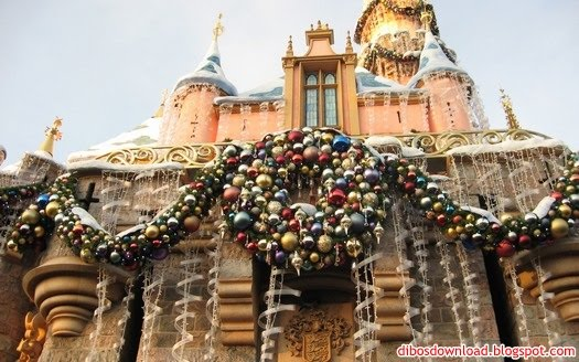 decorated christmas castle