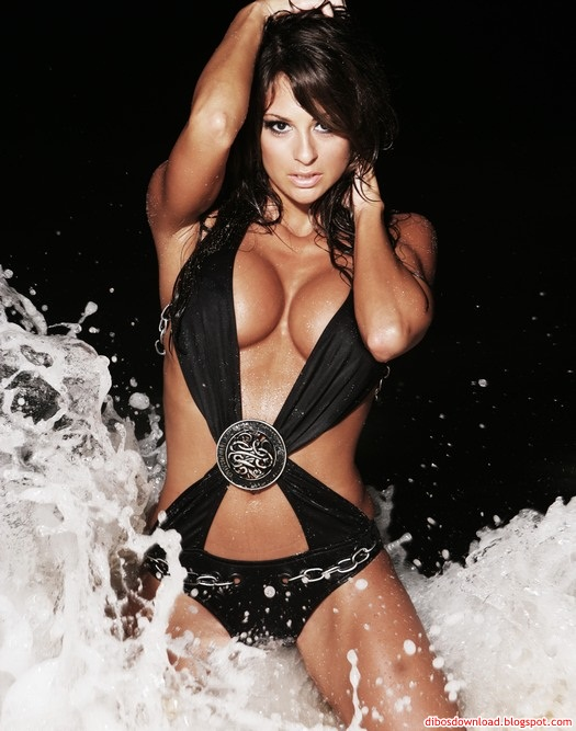 hot and sexy girl in water