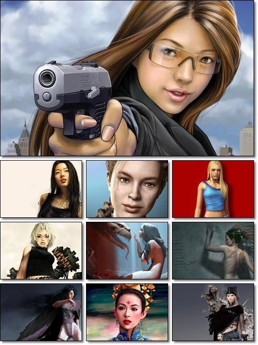 Fantasy and 3D Girls Wallpaper