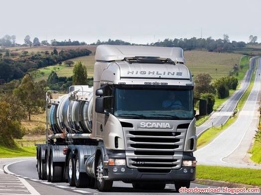 scania highline with tanker truck