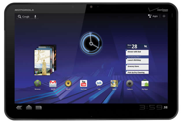 Verizon/Motorola announce XOOM™ Tablet