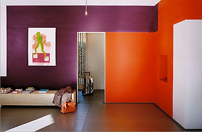 purple and orange bedroom home design