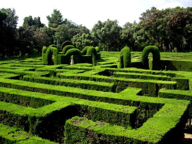 Ebarceloning enjoy doing barceloning el parque del for Jardin laberinto