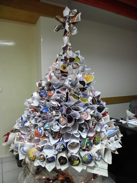 mechanochameleon save the trees creative christmas