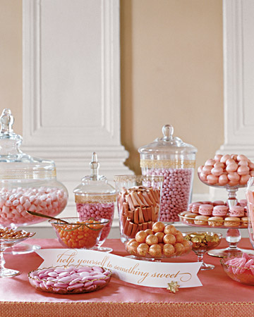 Great Dessert Table for Wedding or Bridal Shower candy tables at weddings