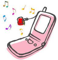 Telefonino rosa che suona