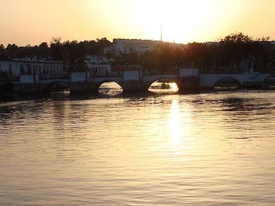 Rio Gilão, cidade de Tavira