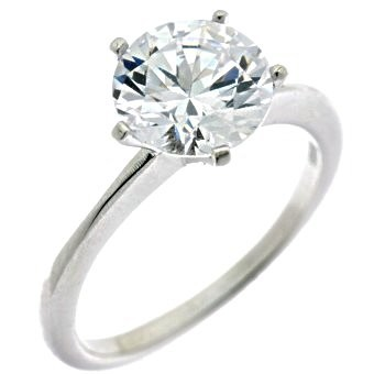 Tiffany Inspired 2.2 Carat Solitaire Ring Lge(1)]