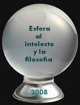 """Premio """"Esfera al intelecto y a la filosofía 2008"""""""