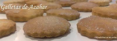 Galletas de Azahar (sin huevo)