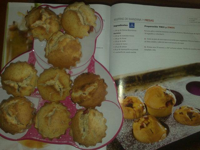 Muffins de Manzana y Fresa Thermomix