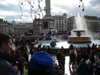 Trafalgar Square 24 February 2007 - image of people 2