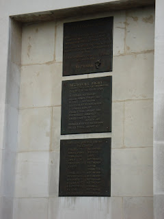 Memorial plaques at Notts County Hall to Nottinghamshire International Brigade Volunteers