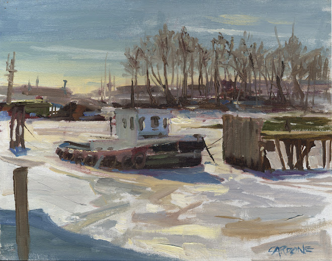 """Port Light Tug in Winter"" 3/07"